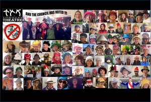 Hats of supporters pics