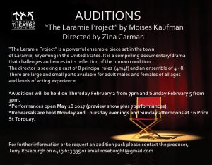 ***AUDITIONS*** (click the image to enlarge)