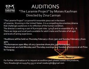 laramie auditions